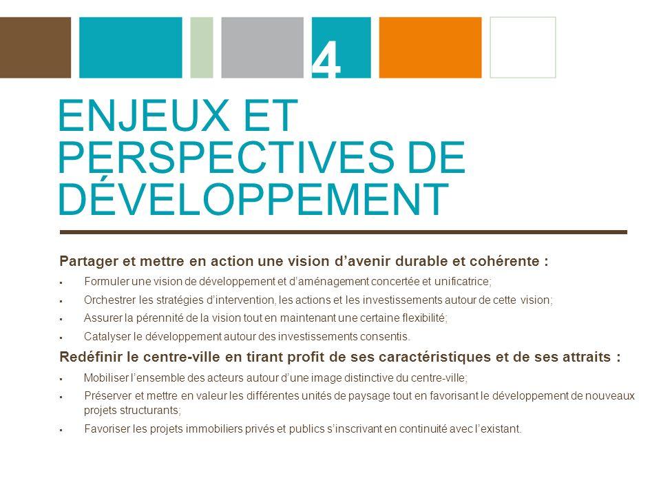 4 Enjeux et perspectives de développement