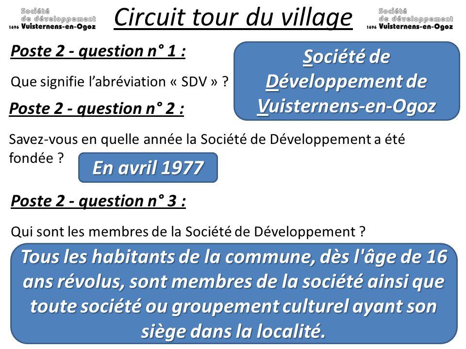 Développement de Vuisternens-en-Ogoz