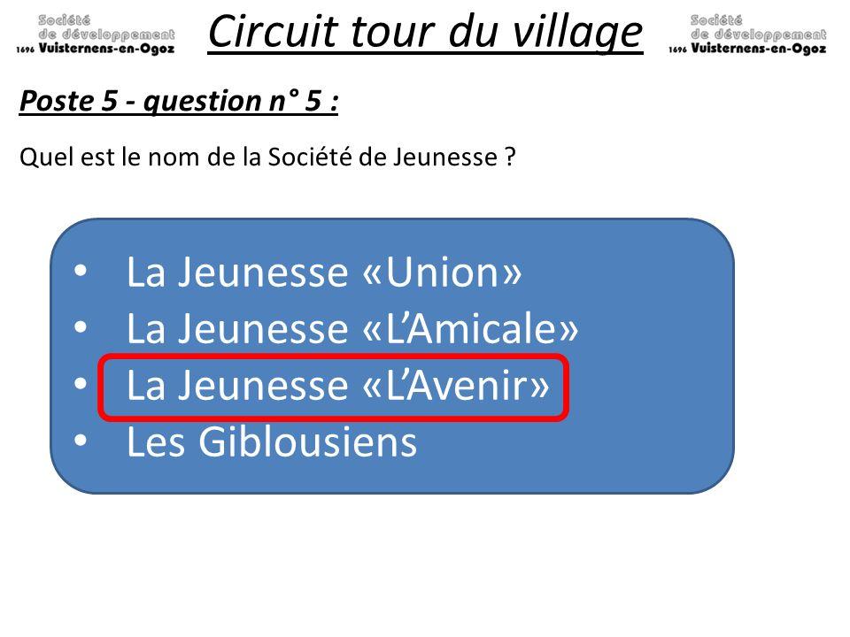 Circuit tour du village