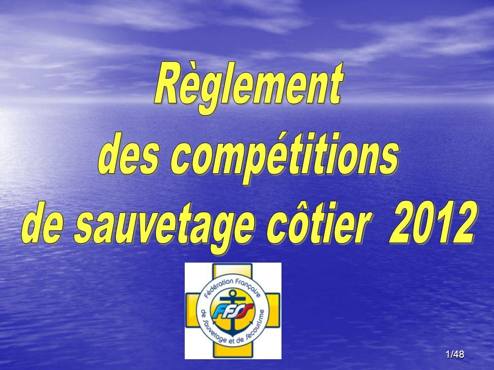 Règlement des compétitions de sauvetage côtier 2012