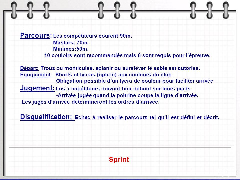 2002 Parcours: Les compétiteurs courent 90m.