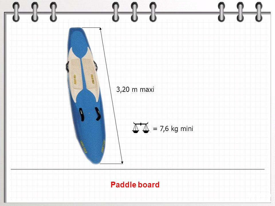 2002 Paddle board 3,20 m maxi = 7,6 kg mini Planches de sauvetage :