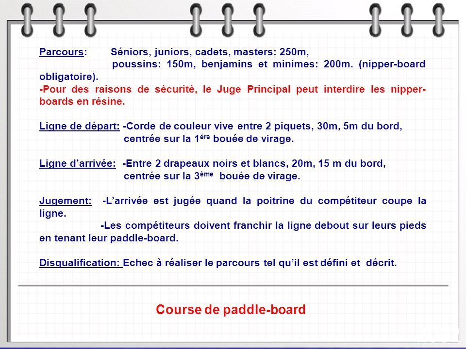 Course de paddle-board