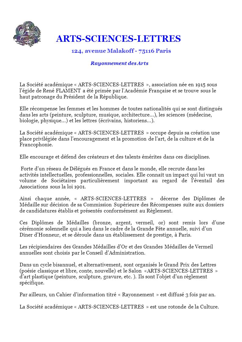 ARTS-SCIENCES-LETTRES