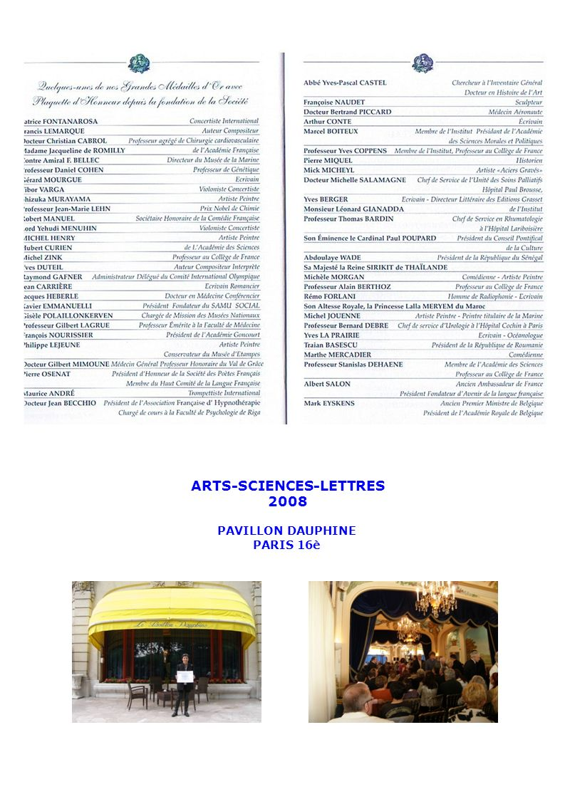 ARTS-SCIENCES-LETTRES 2008