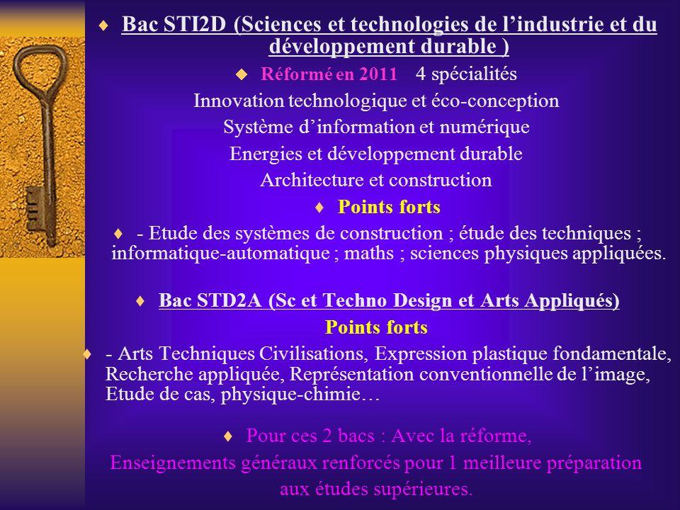 Bac STD2A (Sc et Techno Design et Arts Appliqués)