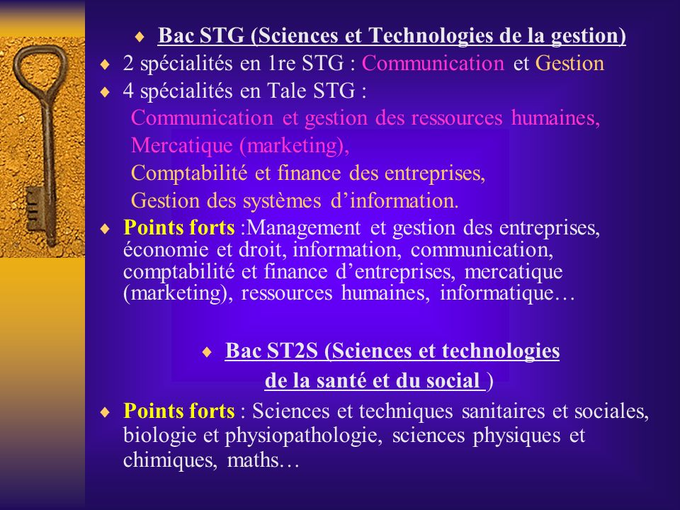 Bac STG (Sciences et Technologies de la gestion)