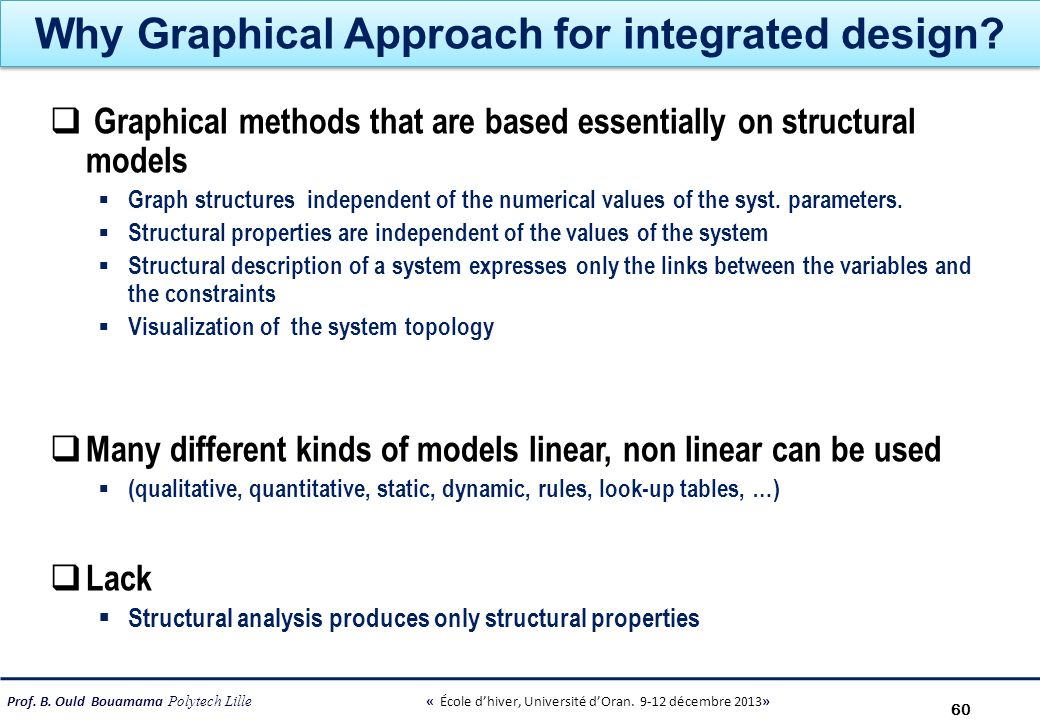 Why Graphical Approach for integrated design