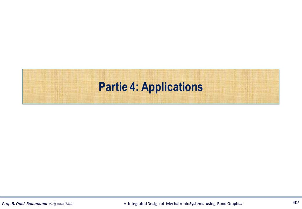 Partie 4: Applications