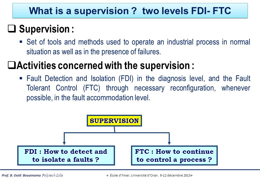 What is a supervision two levels FDI- FTC