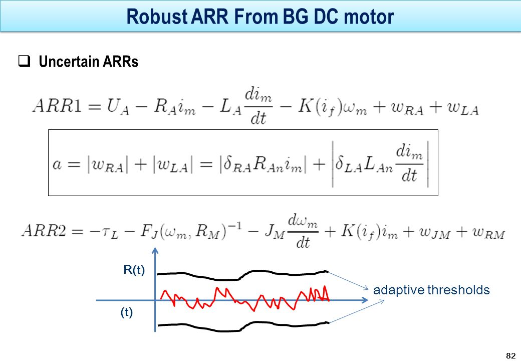 Robust ARR From BG DC motor