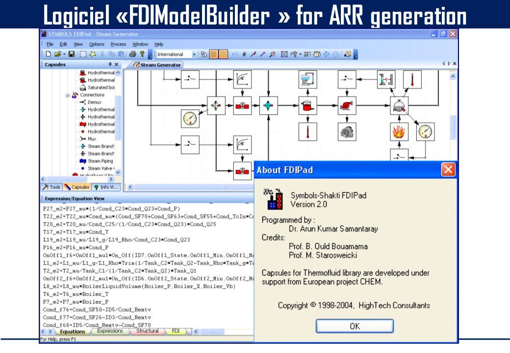 Logiciel «FDIModelBuilder » for ARR generation