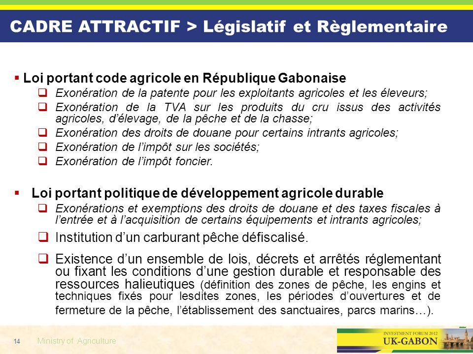 CADRE ATTRACTIF > Législatif et Règlementaire