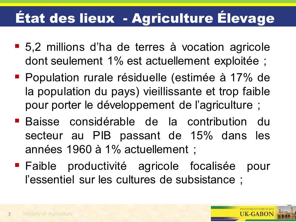 État des lieux - Agriculture Élevage