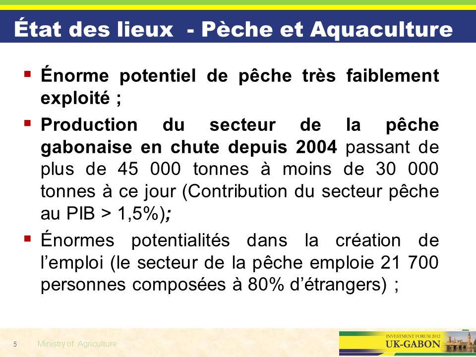 État des lieux - Pèche et Aquaculture