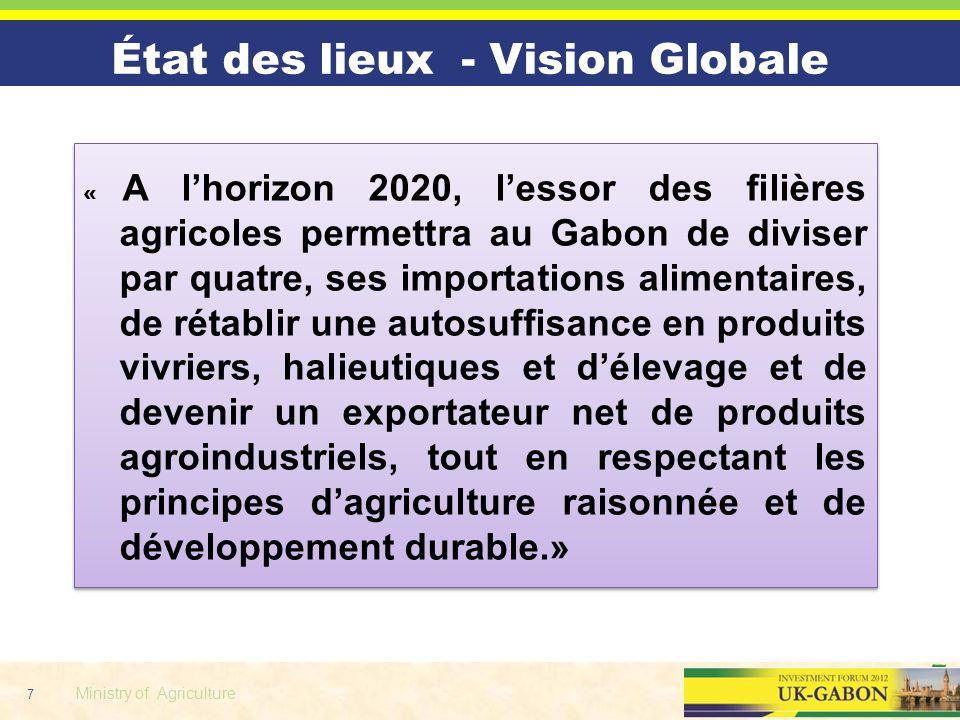 État des lieux - Vision Globale
