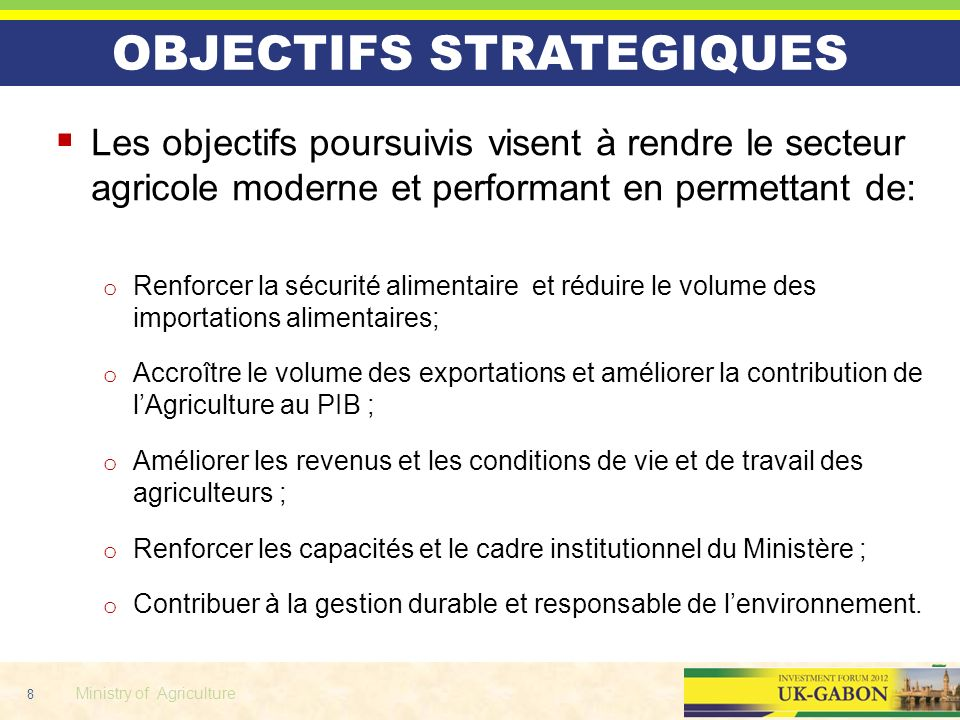 OBJECTIFS STRATEGIQUES
