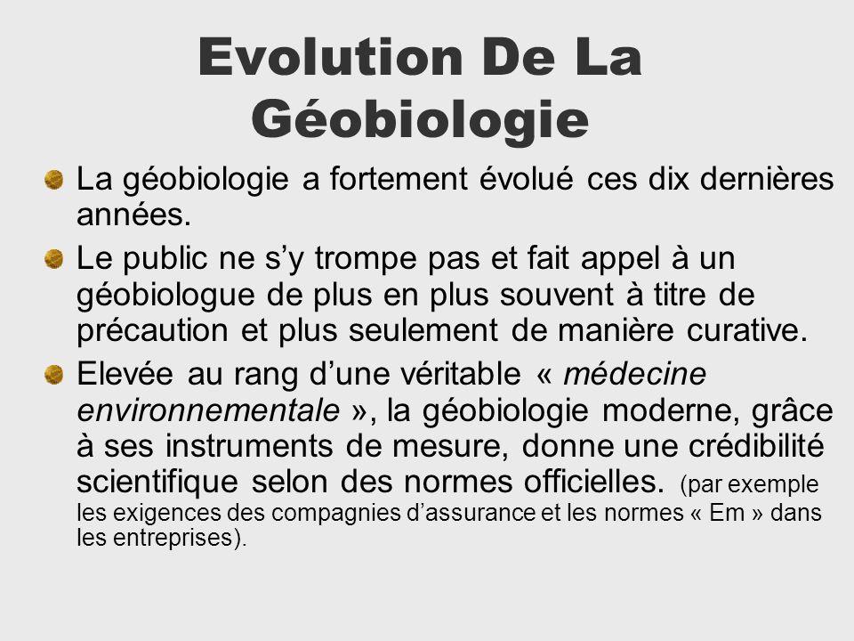 Evolution De La Géobiologie