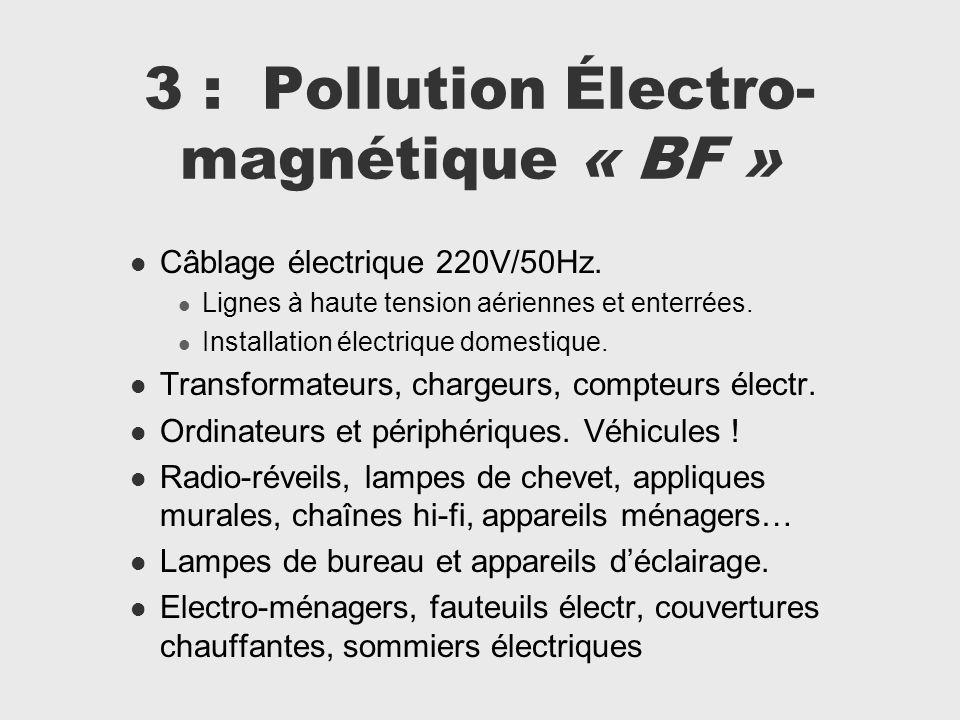 3 : Pollution Électro-magnétique « BF »