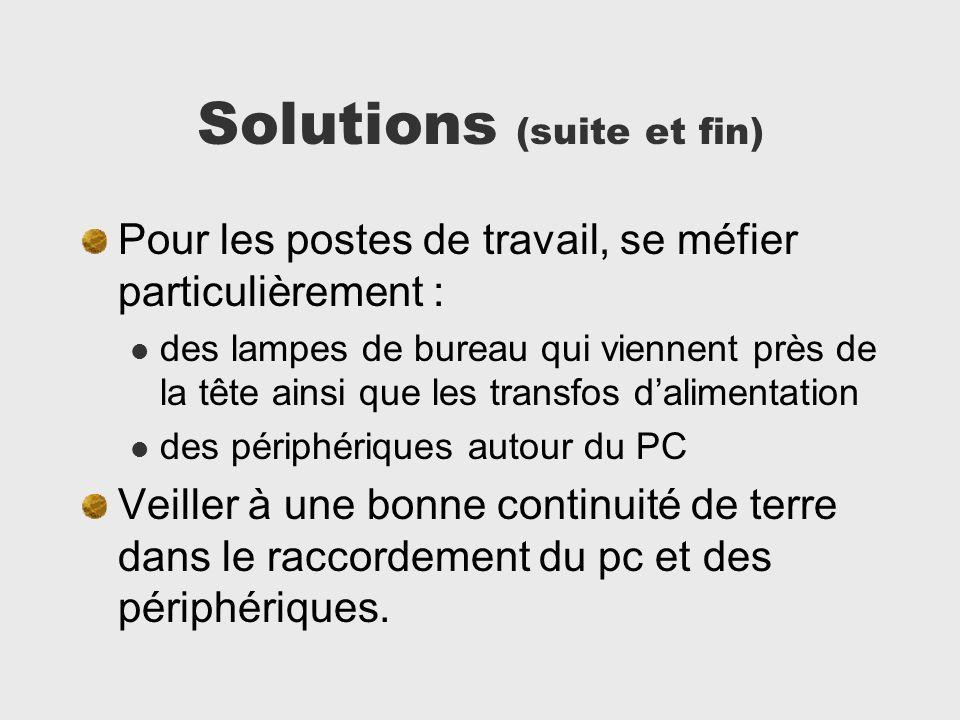 Solutions (suite et fin)