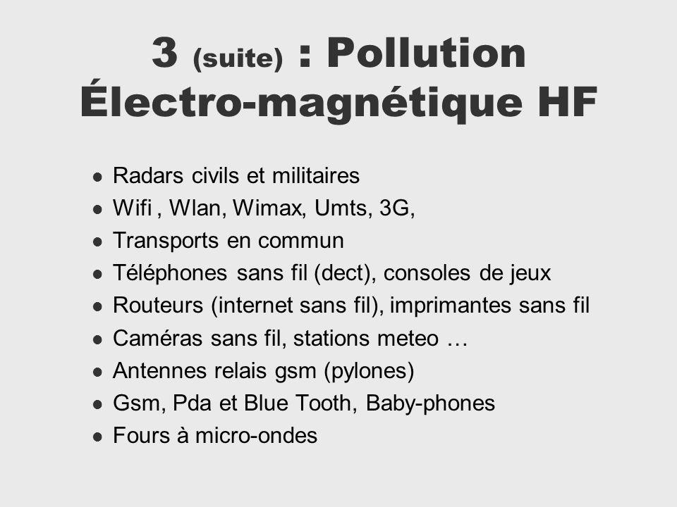 3 (suite) : Pollution Électro-magnétique HF