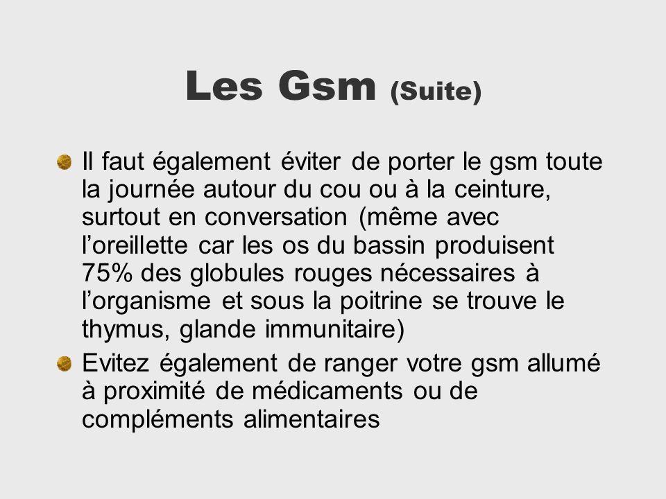 Les Gsm (Suite)