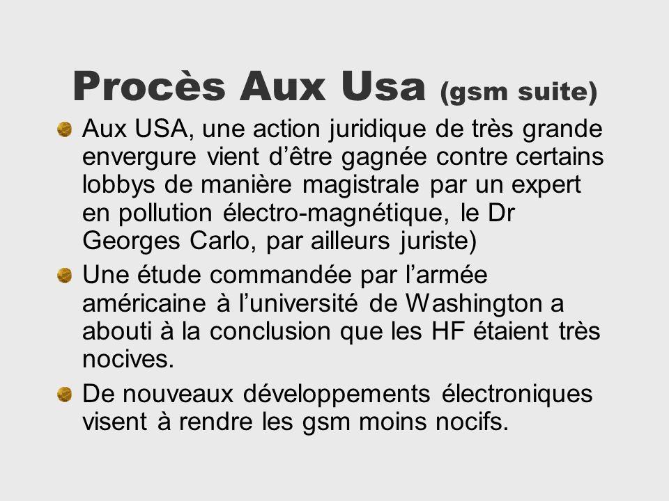 Procès Aux Usa (gsm suite)