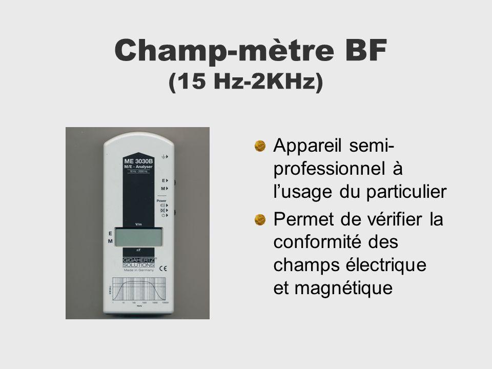 Champ-mètre BF (15 Hz-2KHz)