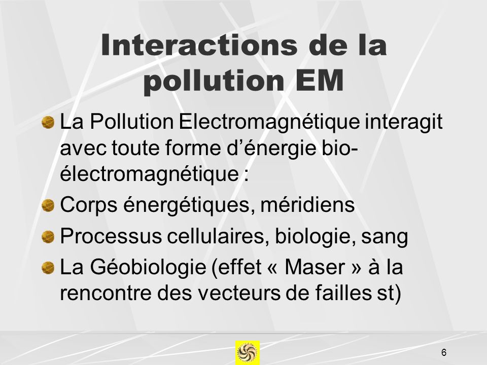 Interactions de la pollution EM