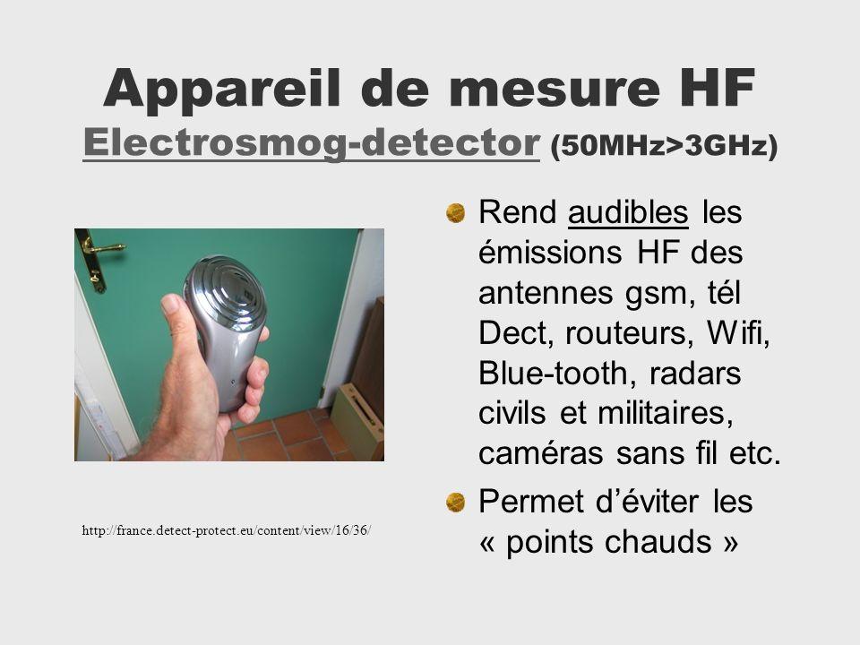 Appareil de mesure HF Electrosmog-detector (50MHz>3GHz)