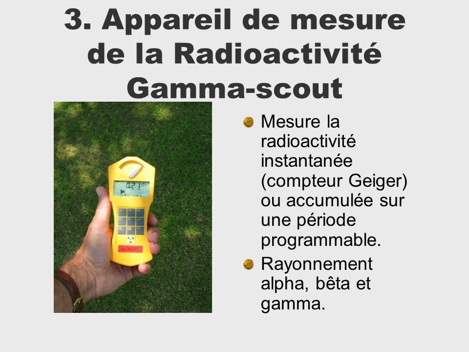 3. Appareil de mesure de la Radioactivité Gamma-scout