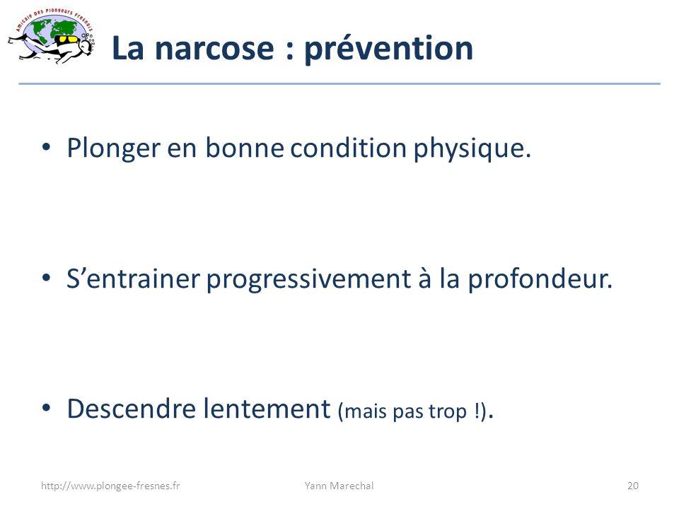 La narcose : prévention