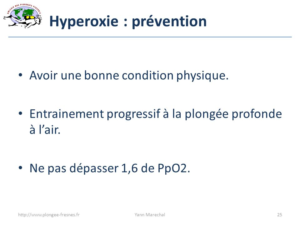 Hyperoxie : prévention