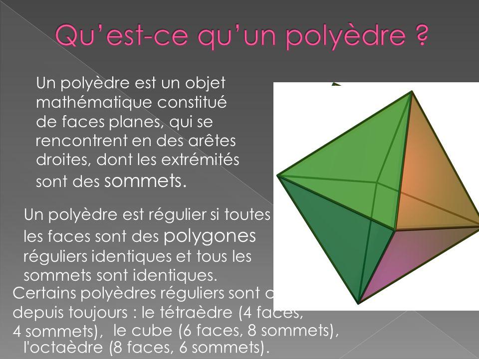 Qu'est-ce qu'un polyèdre