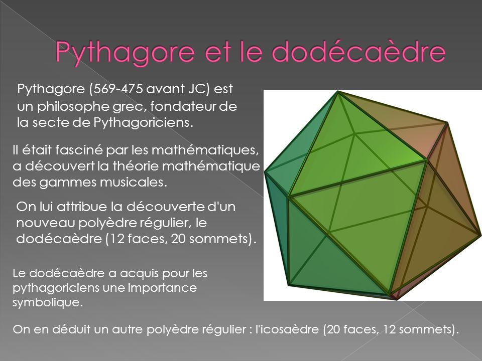 Pythagore et le dodécaèdre