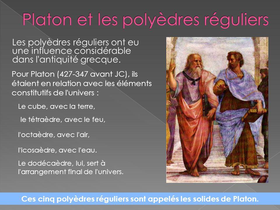 Platon et les polyèdres réguliers