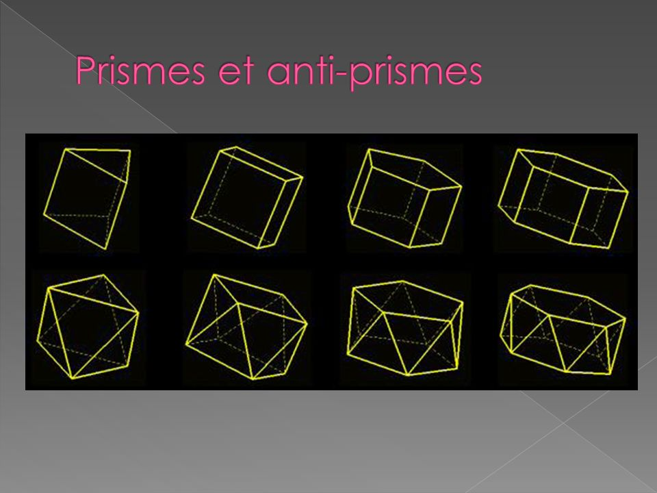 Prismes et anti-prismes