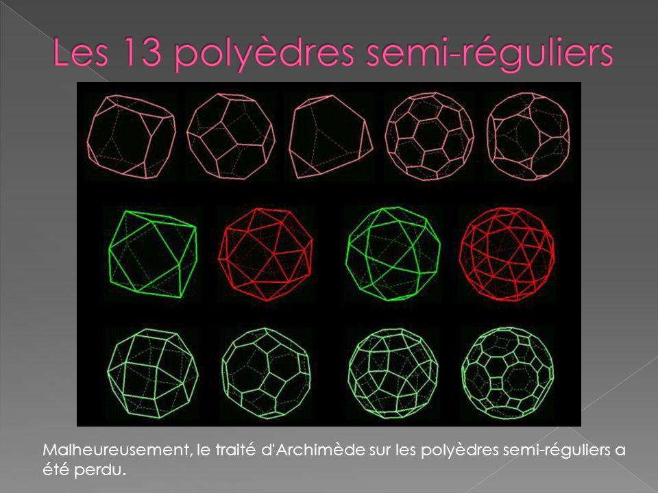 Les 13 polyèdres semi-réguliers