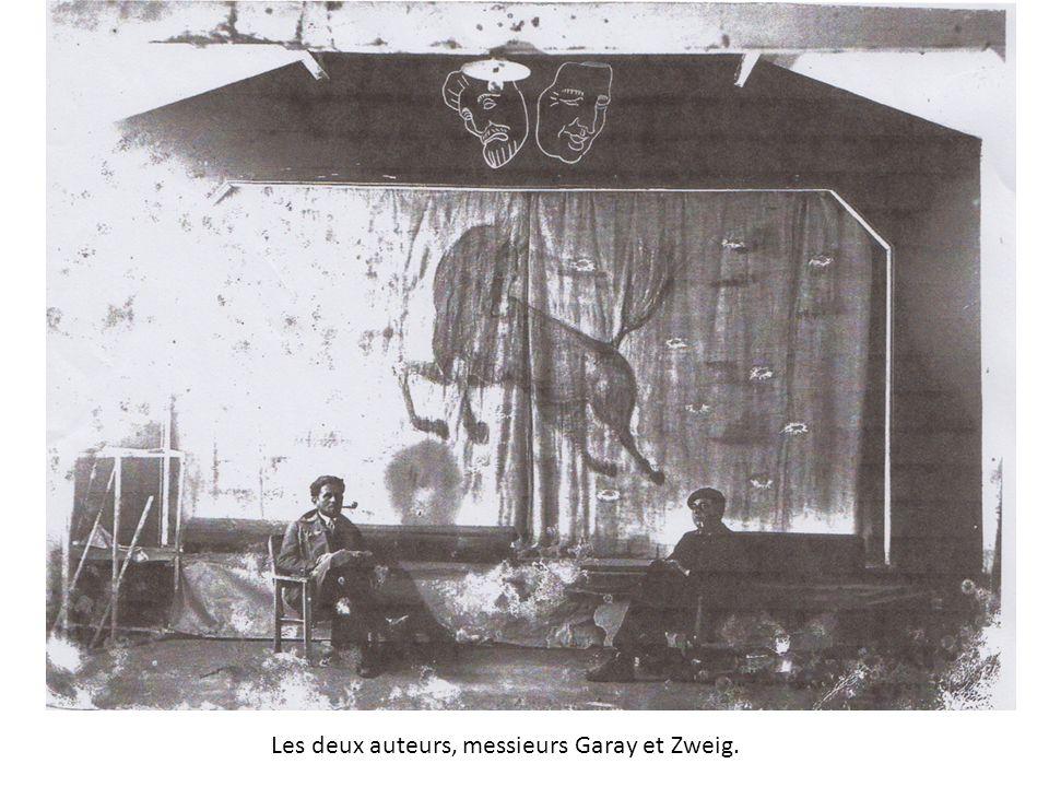 Les deux auteurs, messieurs Garay et Zweig.
