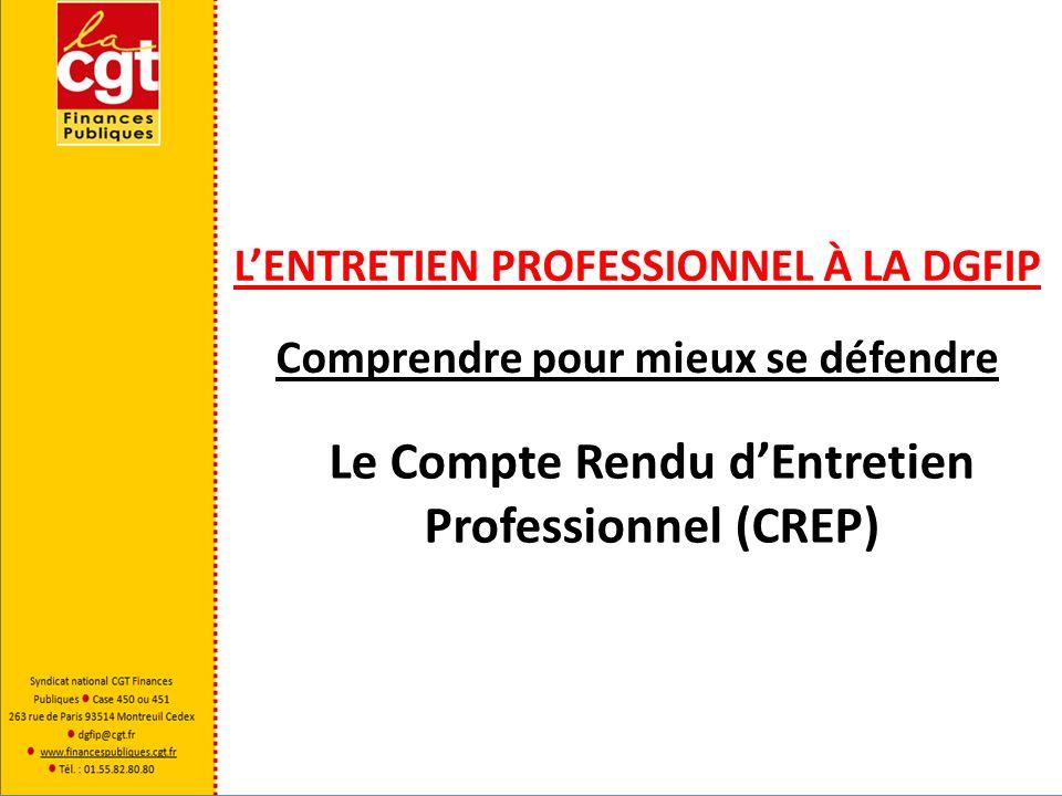 Le Compte Rendu d'Entretien Professionnel (CREP)