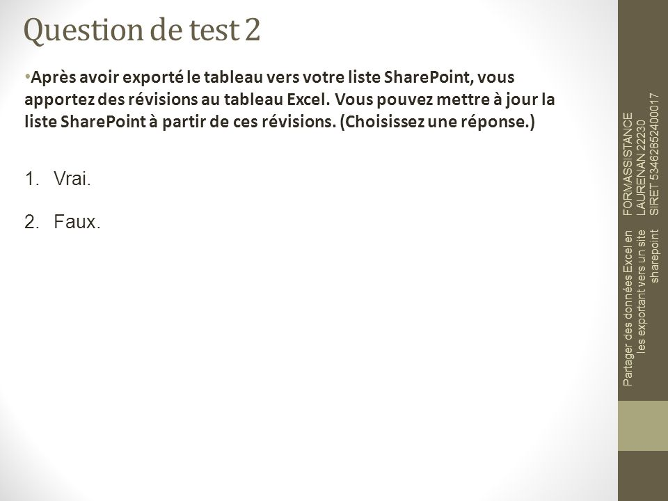 Question de test 2