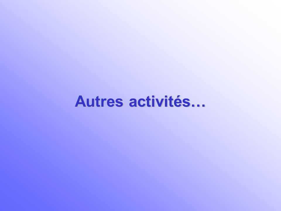 Autres activités…
