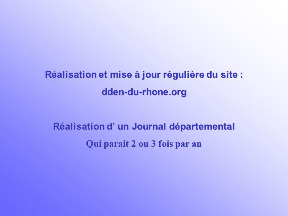 Réalisation et mise à jour régulière du site : dden-du-rhone.org
