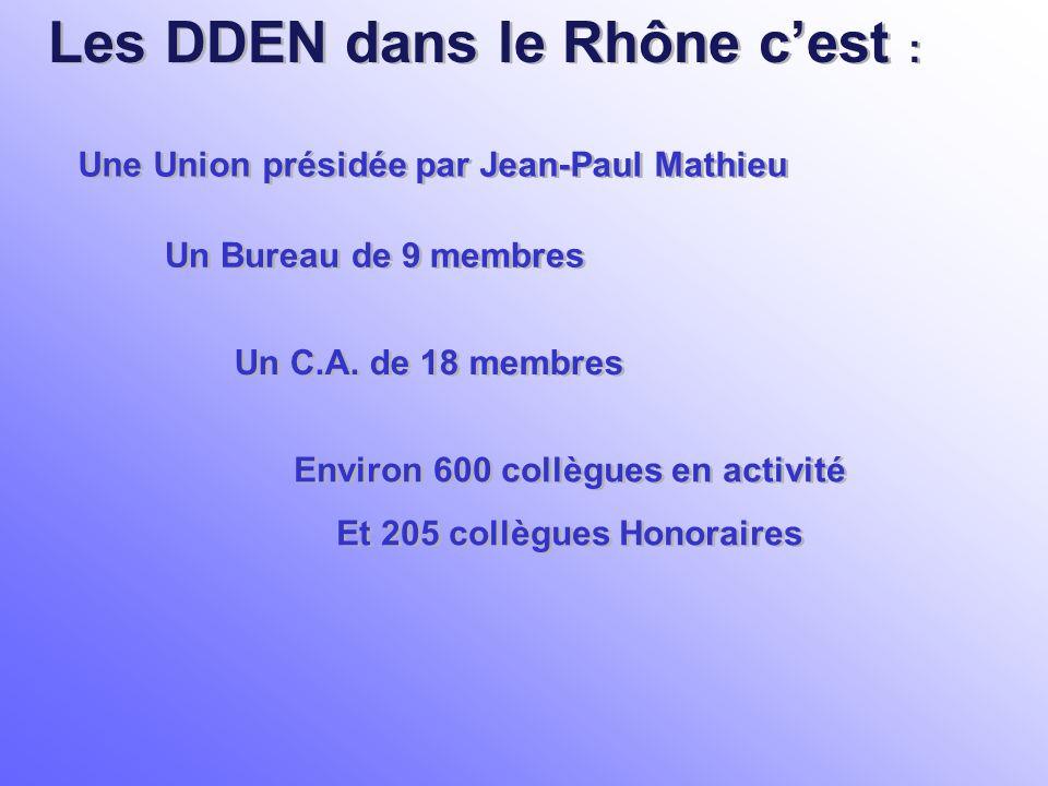 Les DDEN dans le Rhône c'est :