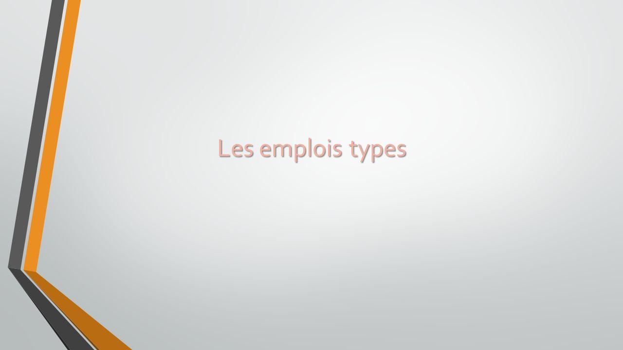 Les emplois types