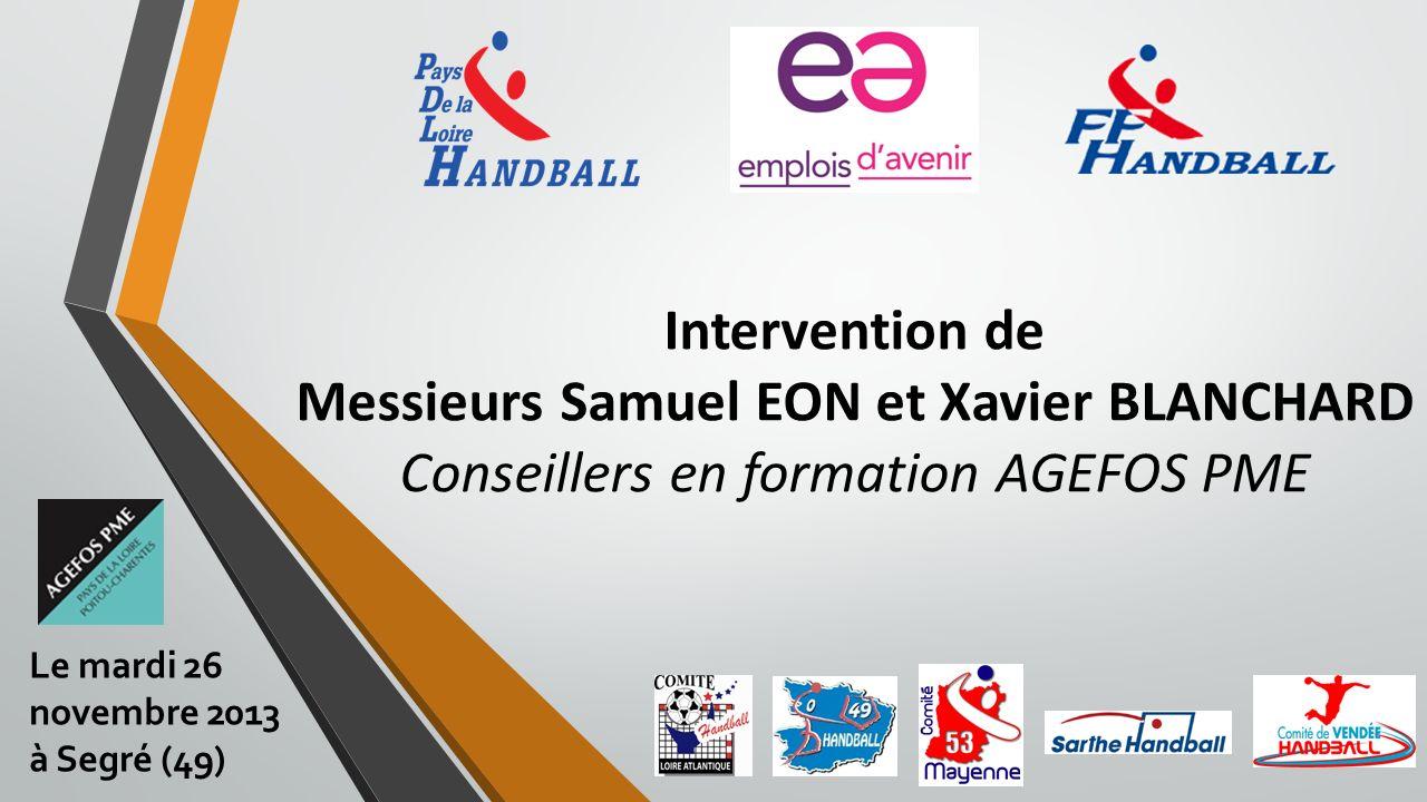 Intervention de Messieurs Samuel EON et Xavier BLANCHARD Conseillers en formation AGEFOS PME