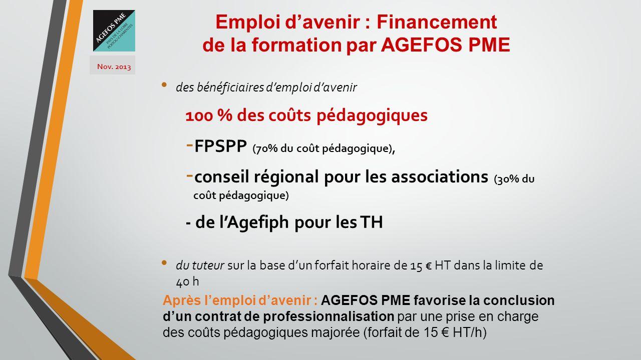 Emploi d'avenir : Financement de la formation par AGEFOS PME
