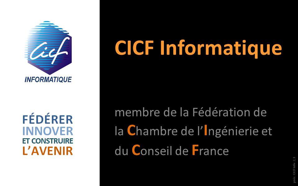 CICF Informatique membre de la Fédération de la Chambre de l'Ingénierie et du Conseil de France.