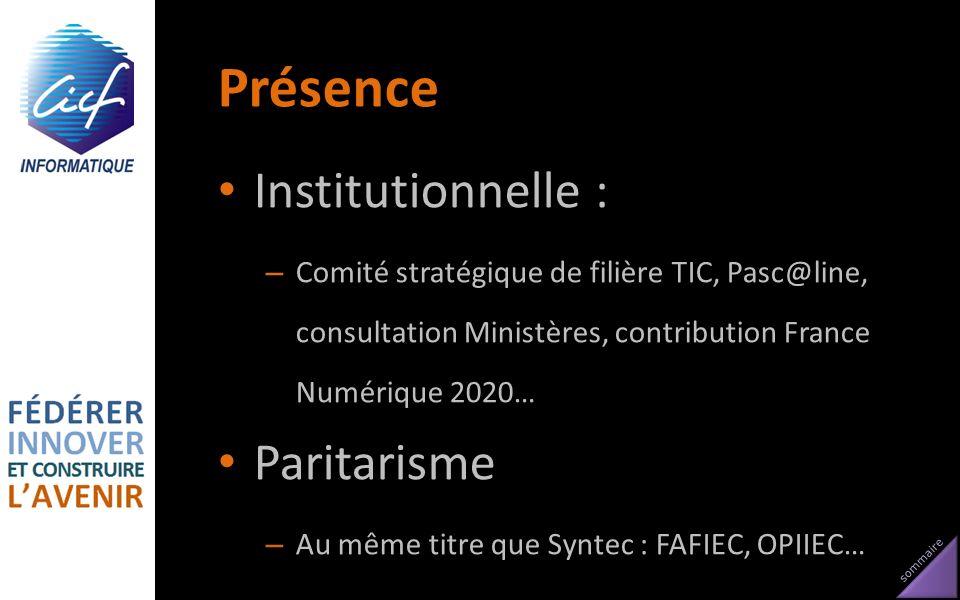 Présence Institutionnelle : Paritarisme