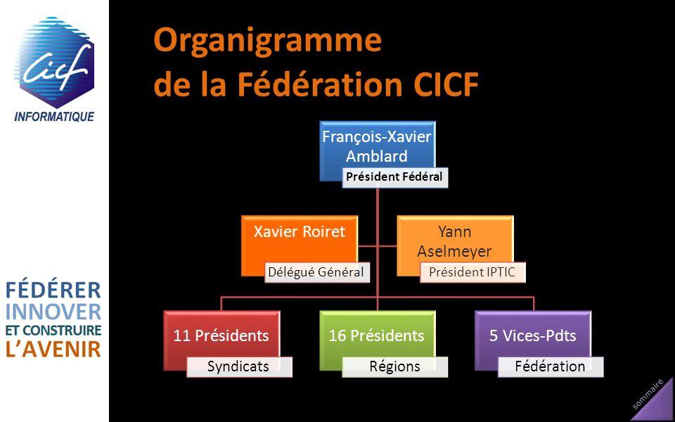 Organigramme de la Fédération CICF